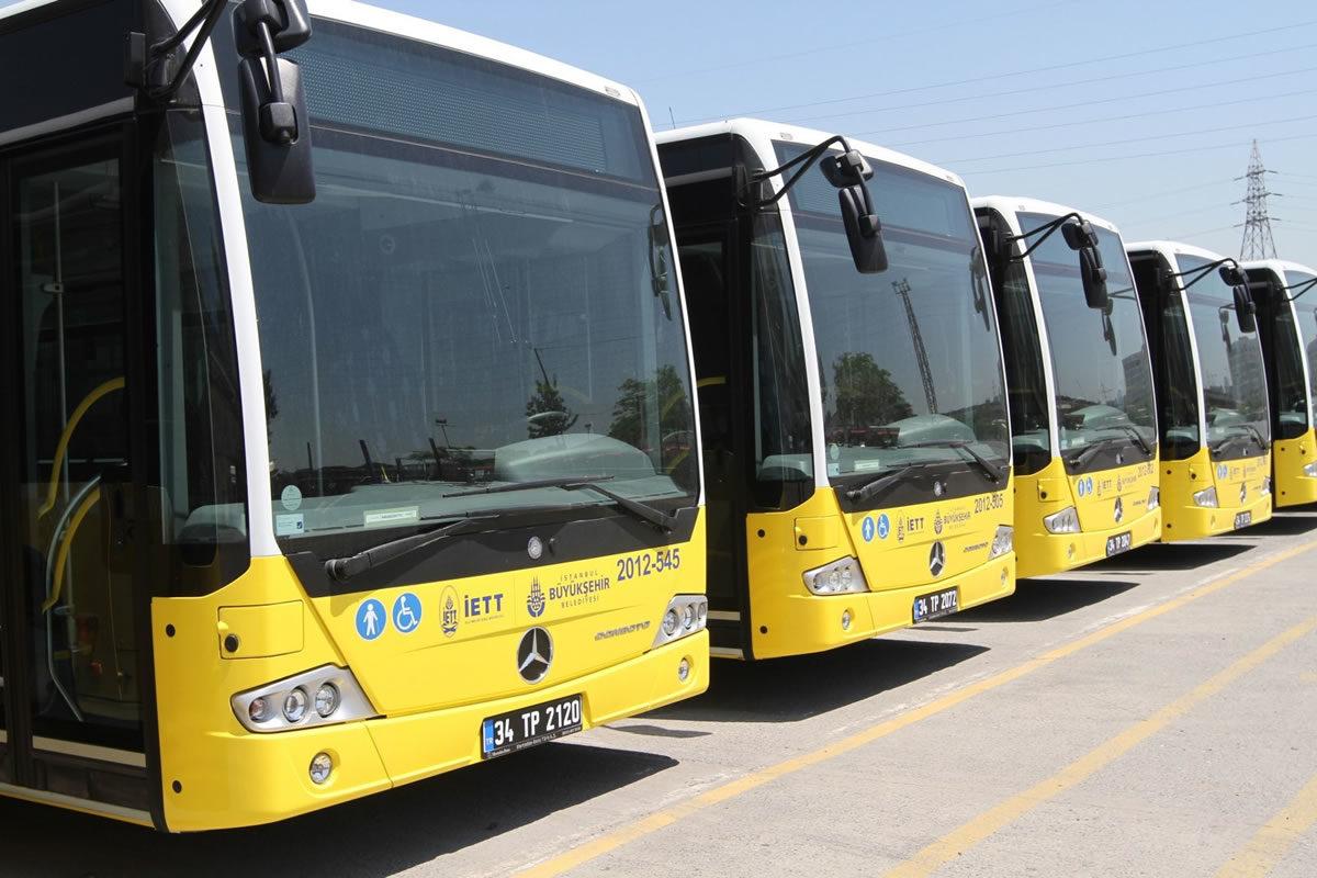 Kemerburgaz'dan geçen otobüsler